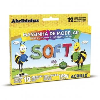 MASSA MODELAR CERA 12 CORES 180G R.07012 ACRILEX