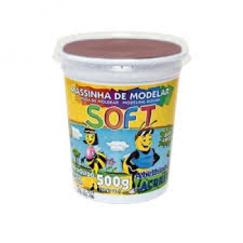 MASSA MODELAR POTE SOFT 500G CHOCOLATE ACRILEX