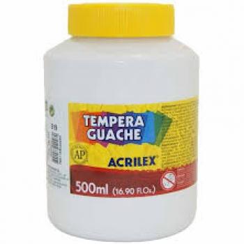 TINTA GUACHE 250ML BRANCO 519 ACRILEX