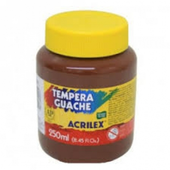 TINTA GUACHE 250ML MARRON 531 ACRILEX