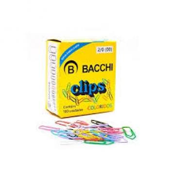 CLIPS COLORIDO N 2/0 C/100 BACCHI