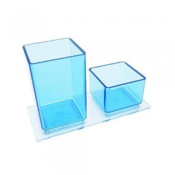 PORTA LAPIS CLIPS ACRILICO BLUE AZUL 939.2 ACRIMET