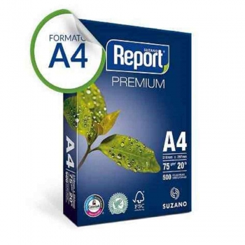 PAPEL SULFITE A4 BRANCO 500F 75G    REPORT PREMIUM