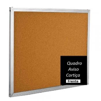QUADRO AVISO CORTICA  90X60 M.ALUMINIO R5703 SOUZA
