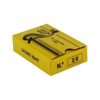 CLIPS 2/0 GALVANIZADO 500G 720UN            GOLDEN