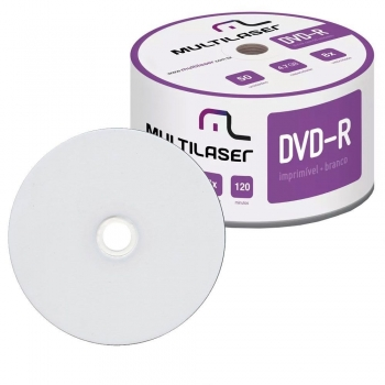 CD DVD-R SHRINK 4,7GB DV052 IMPRIMIVEL MULTILASER