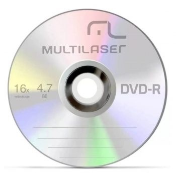 CD DVD-R PINO 4.7GB 120M 16V DV061 MULTILASER