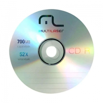 CD-R 700 MB 80 MIN.52 X PINO CD051 UNID.MULTILASER