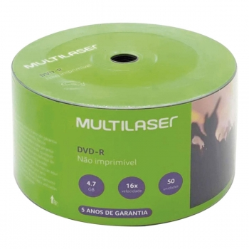 CD DVD-R PINO 4.7GB 120M 16V DV060 MULTILASER