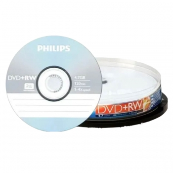 CD DVD-RW PINO REGRAV.4.7 GB 120MIN.PHILIPS