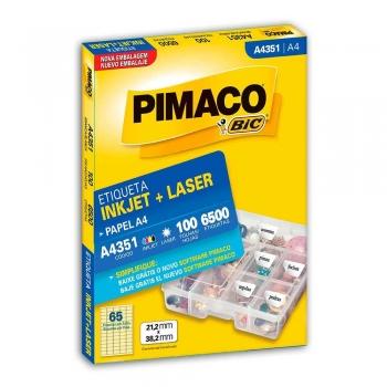ETIQUETA A4351 INKJET/LASER 100 FLS.(65)    PIMACO