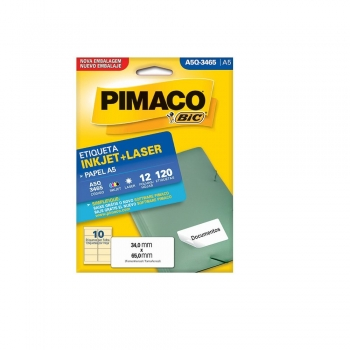 ETIQUETA A5 Q-3465 INKJET/LASER 12 FLS.(10) PIMACO