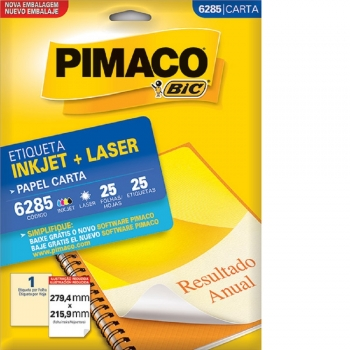ETIQUETA 6285 CARTA INKJET/LASER 25 FLS.(1) PIMACO