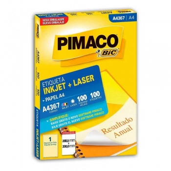 ETIQUETA A4367 INKJET/LASER 100 FLS.(1)     PIMACO