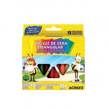 BIG GIZ DE CERA TRIANG.12 CORES REF.09312 ACRILEX