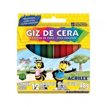 BIG GIZ DE CERA REDONDO 12 CORES REF.09111 ACRILEX