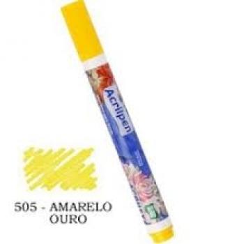 CANETA TECIDO ACRILPEN AMARELO OURO 50 ACRILEX