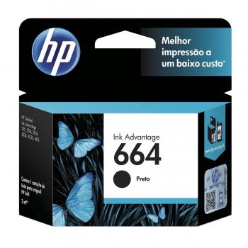 CARTUCHO HP 664 ORIG PRETO F6V29AB