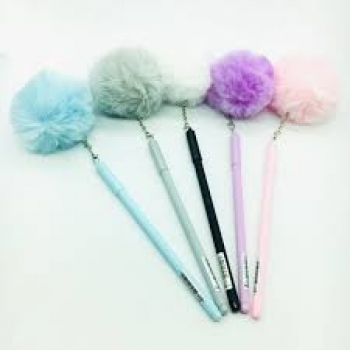 CANETA GEL POMPOM COLOR WIN PAPER